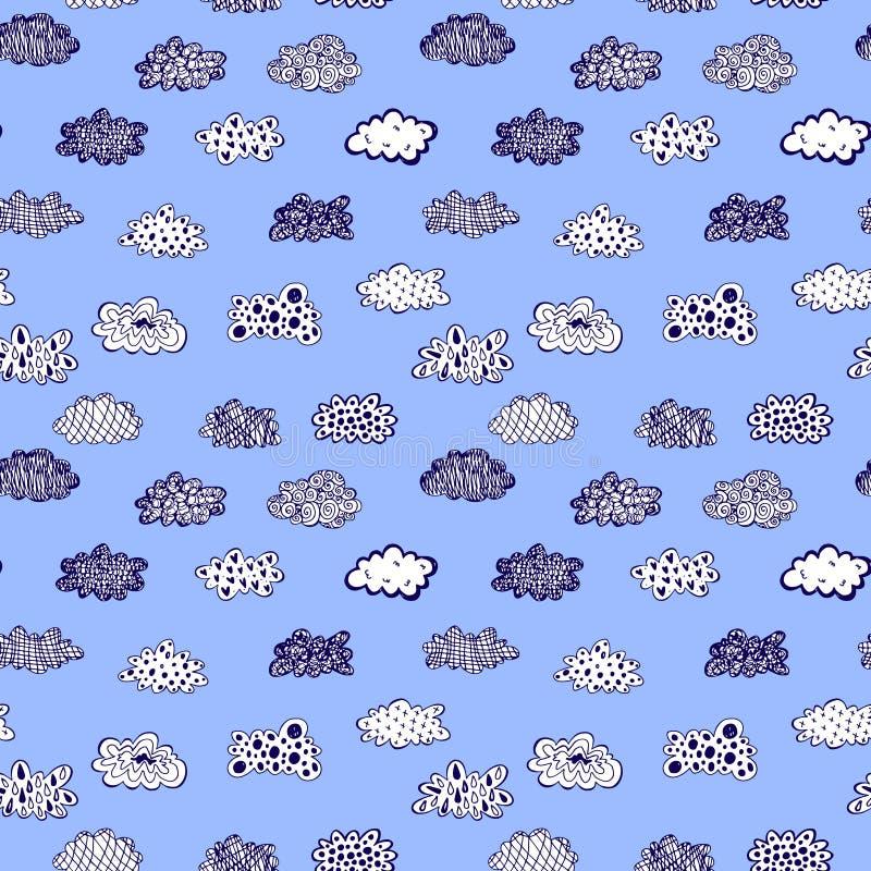 De creatieve conceptuele vector getrokken hand betrekt achtergrond van het illustratie de naadloze patroon vector illustratie