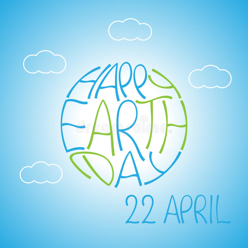 De creatieve Gelukkige affiche van de Aardedag vector illustratie