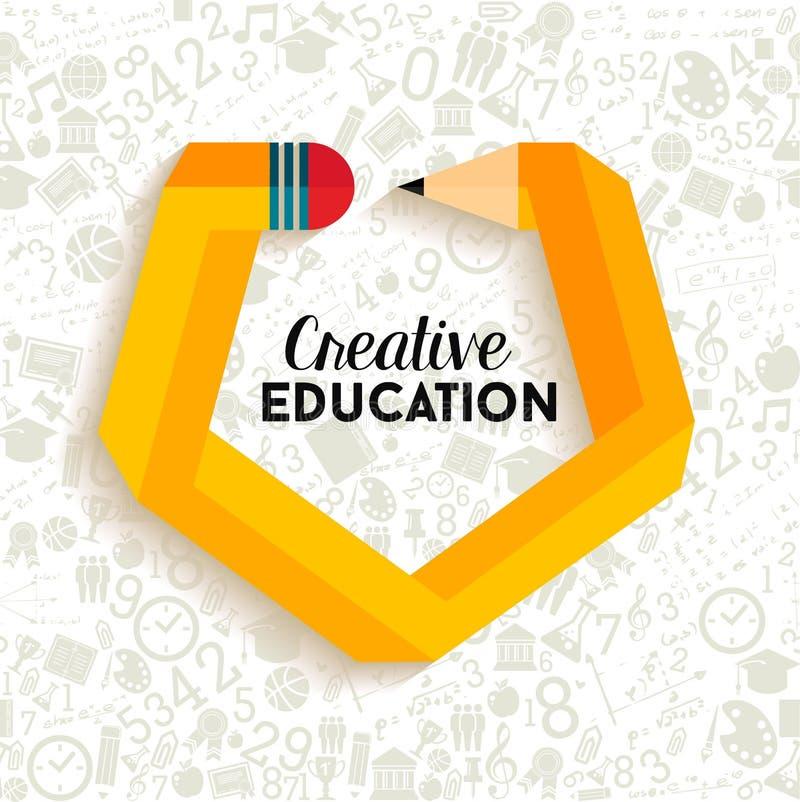De creatieve illustratie van het onderwijsconcept vector illustratie