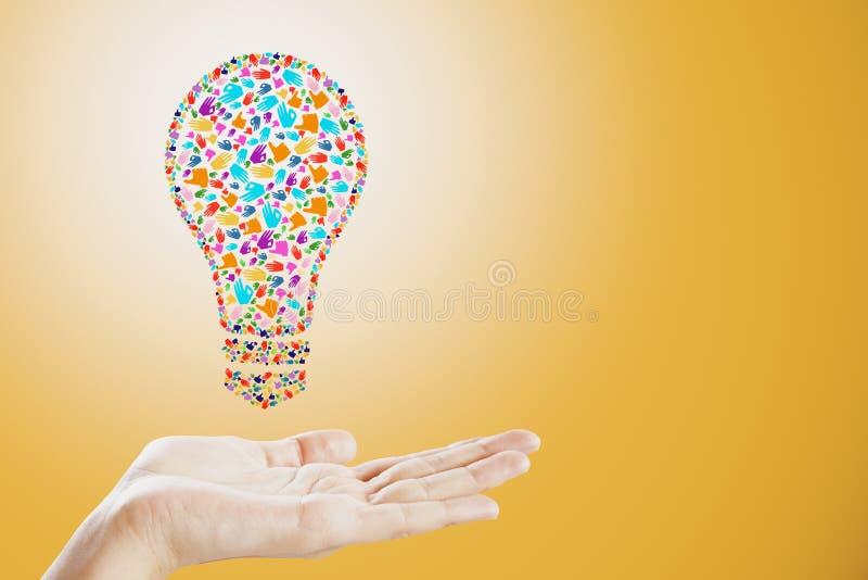 De creatieve lamp van het handgebaar royalty-vrije stock afbeeldingen