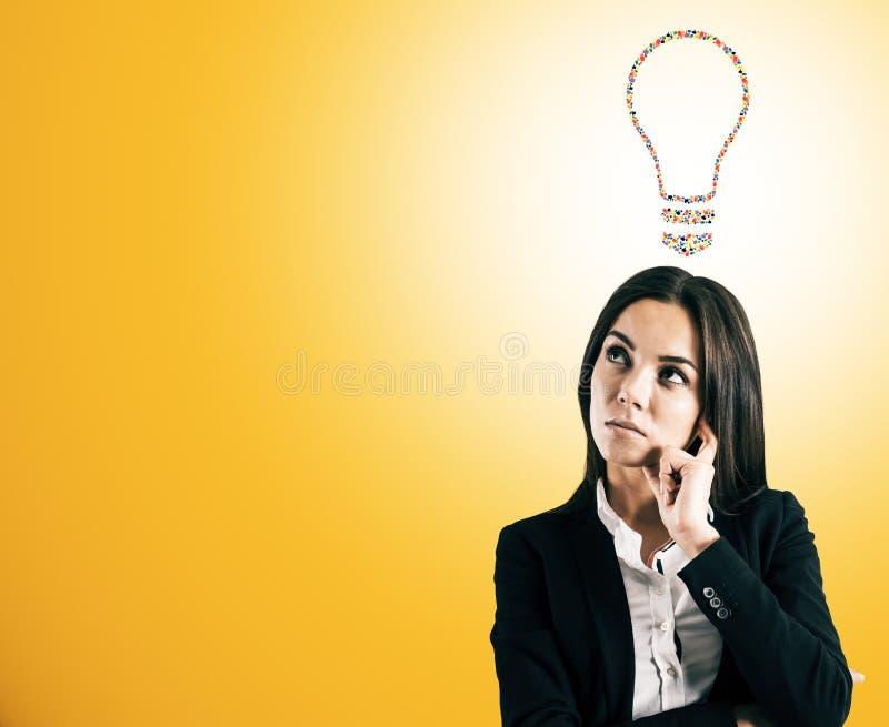 De creatieve lamp van het handgebaar stock fotografie