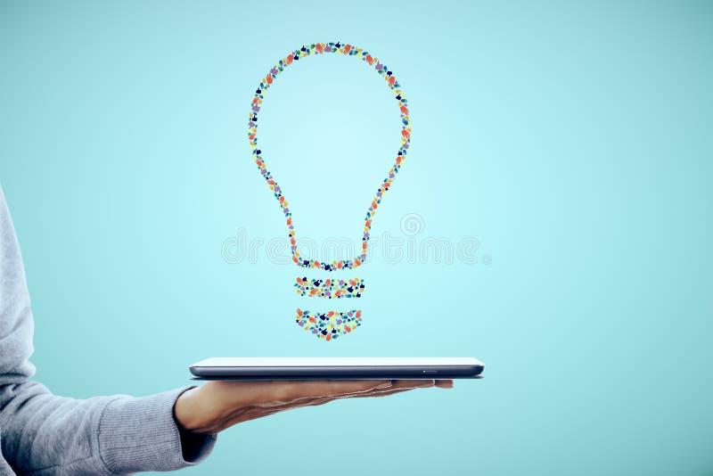 De creatieve lamp van het handgebaar royalty-vrije stock afbeelding