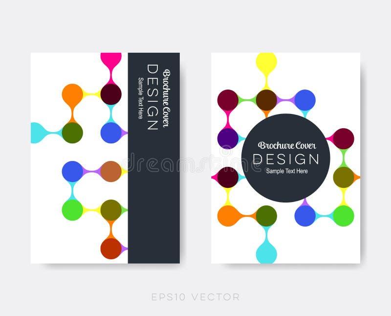 De creatieve moderne malplaatjes van het brochureontwerp vector illustratie