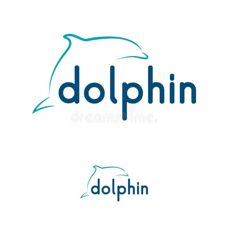 De creatieve ontwerpsjabloon van het dolfijnembleem vector illustratie