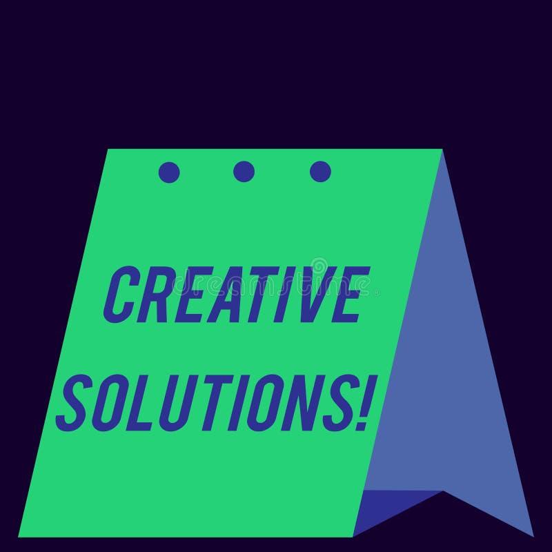 De Creatieve Oplossingen van de handschrifttekst Concept die Originele en unieke benadering in het oplossen van probleem Moderne  royalty-vrije illustratie