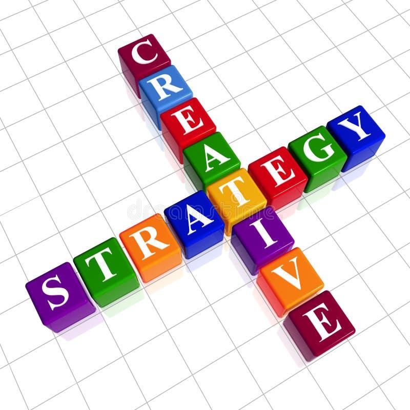 De creatieve strategie van de kleur zoals kruiswoordraadsel royalty-vrije illustratie