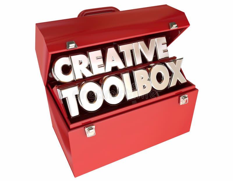 De creatieve Toolbox Inspiratie van Verbeeldingsideeën stock illustratie