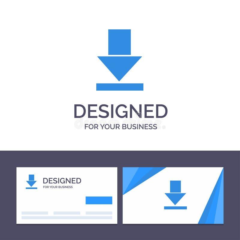 De creatieve Visitekaartje en Embleemmalplaatjepijl, Dawn, downloadt Vectorillustratie stock illustratie