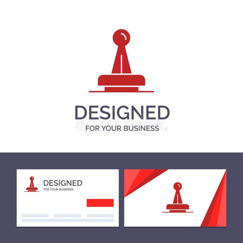De creatieve Visitekaartje en Embleemmalplaatjezegel, Goedkeuring, Wettelijke Instantie, Teken, Rubber, verzegelt Vectorillustrat royalty-vrije illustratie