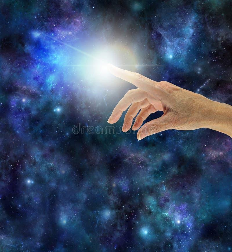 De Creatieve Vonk van Universele Intelligentie stock afbeelding