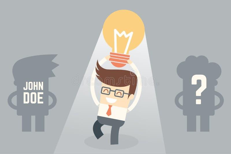 De creativiteit maakt verschil royalty-vrije illustratie