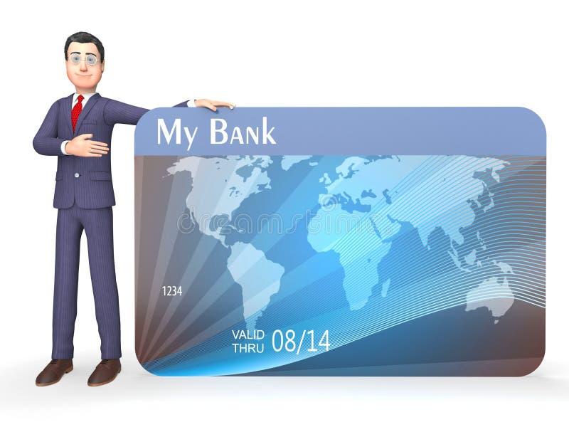 De Creditcard toont Probleem Kleinhandels en geeft het 3d Teruggeven terug stock illustratie
