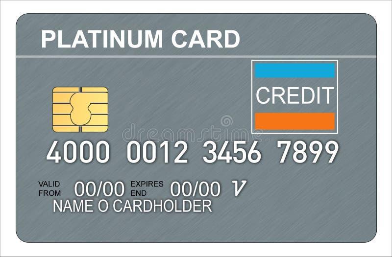 De creditcard van het platina vector illustratie