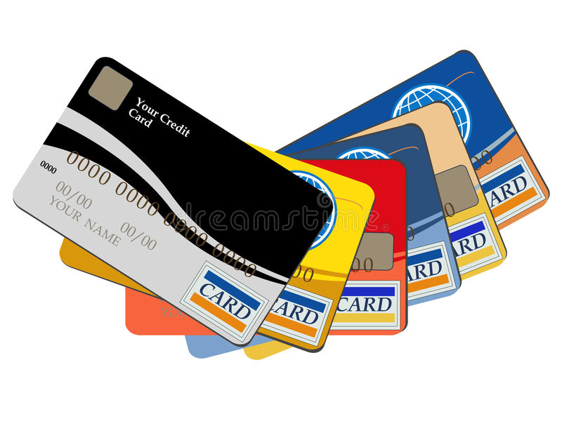 De creditcards van het bankwezen stock illustratie