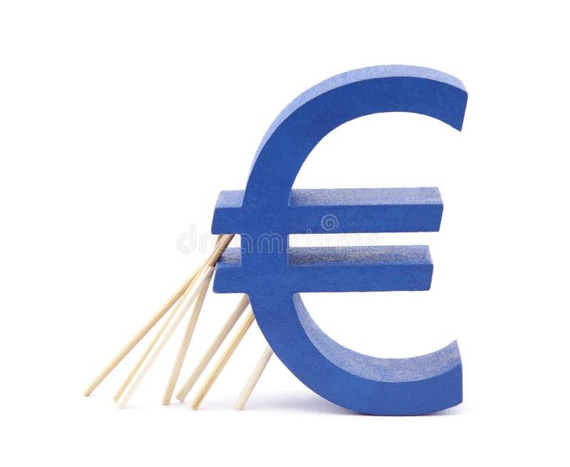 De crisis van de euro-streek stock fotografie