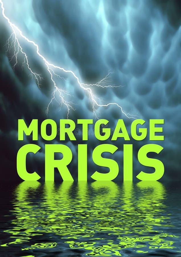 De crisis van de hypotheek stock illustratie