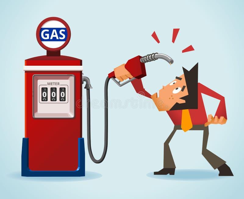 De Crisis van de olie stock illustratie
