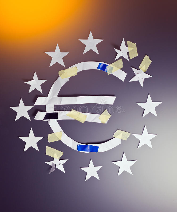 De crisis van Eurozone royalty-vrije stock foto