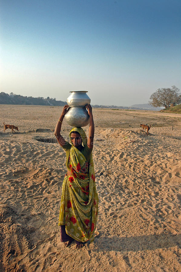 De Crisis van het water in India stock afbeeldingen