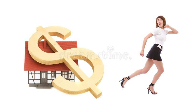 De crisis van onroerende goederen royalty-vrije stock afbeelding