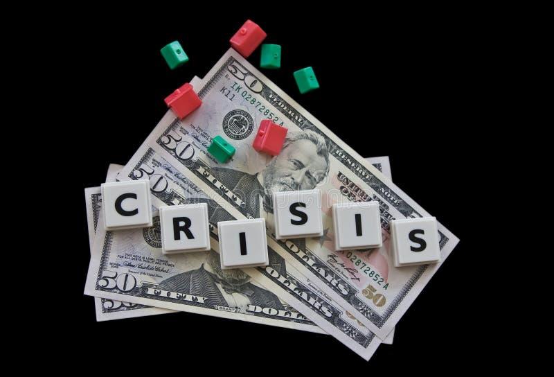 De crisis van onroerende goederen royalty-vrije stock foto