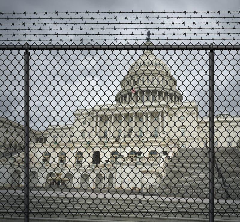 De Crisis van de de Overheidssluiting van de V.S. stock foto's