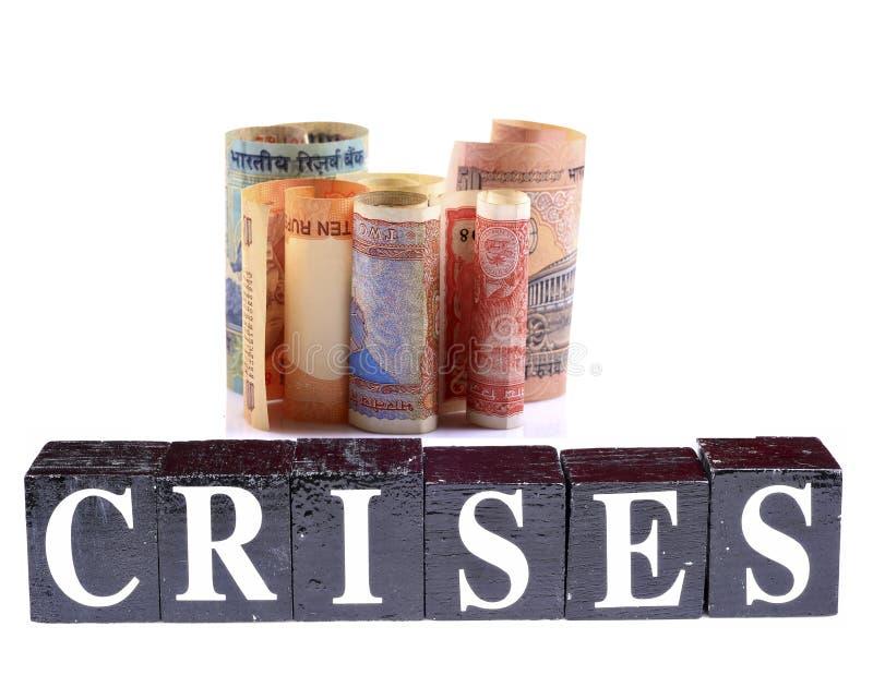 De crisissen van de economie stock foto