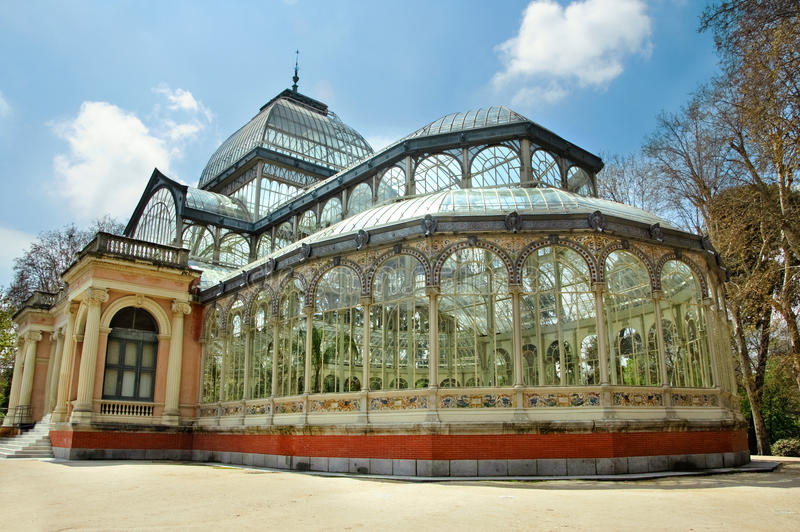 de cristal palacio Madrid zdjęcia stock