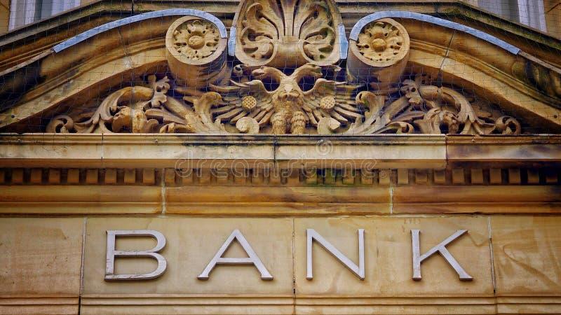 De cru de banque de signe pierre dedans images libres de droits