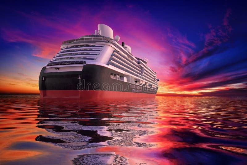 De Cruise van de zonsondergang stock illustratie