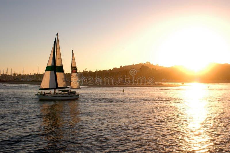 De Cruise van de zonsondergang stock fotografie