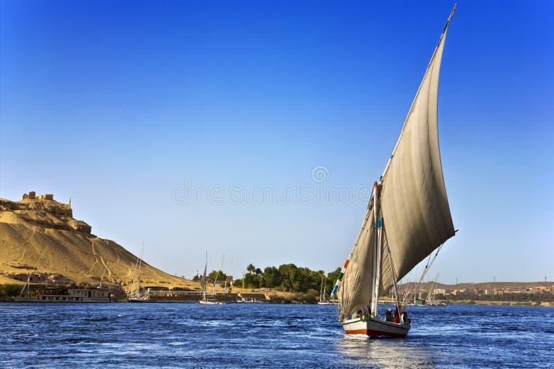 De cruise van Feluccanijl stock afbeeldingen