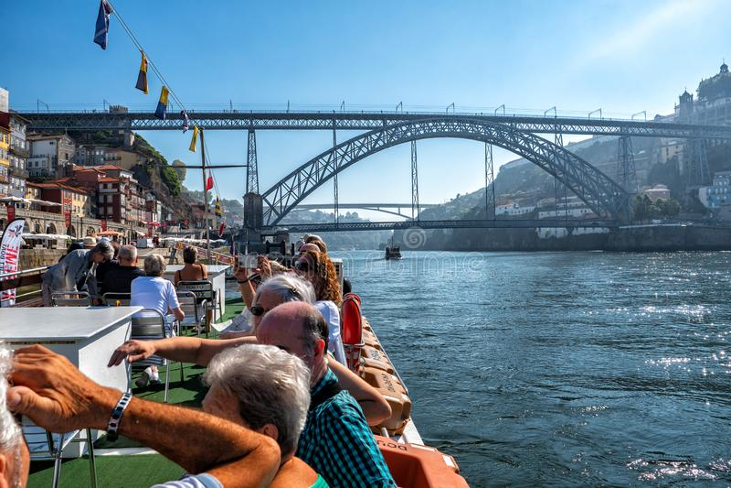 De Cruise van rivierdouro, Porto, Portugal royalty-vrije stock foto's