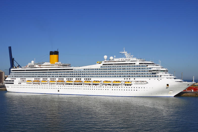 De cruiseschip van Costa
