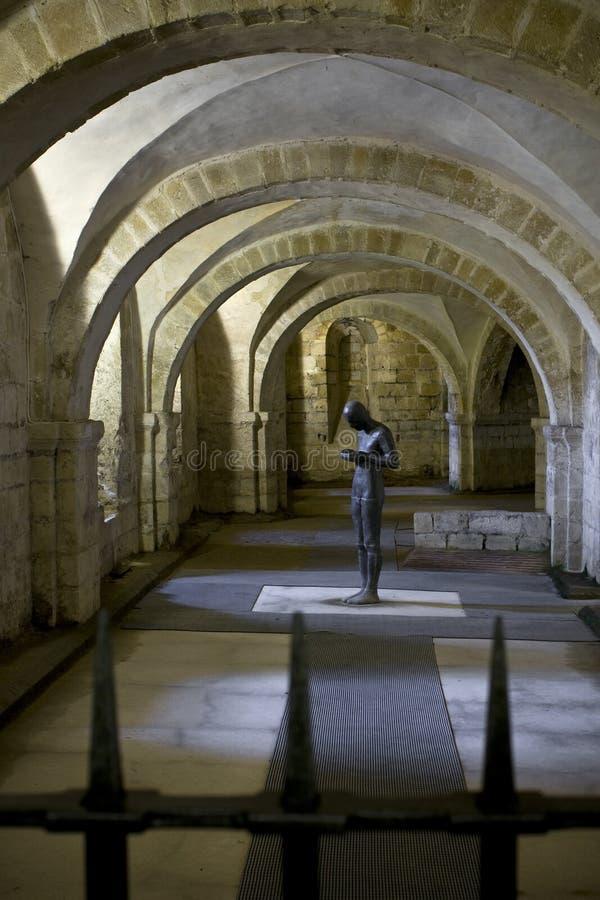 De crypt van de Kathedraal van Wichester stock foto's