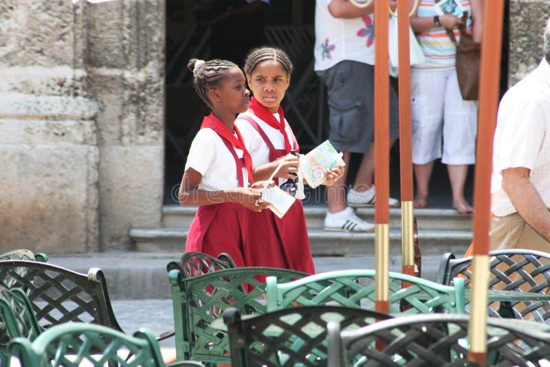 De Cubaanse Meisjes van de School royalty-vrije stock afbeeldingen