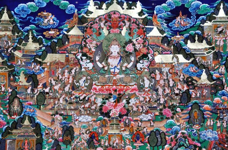 De cultuur 2090 van Tibet stock afbeelding