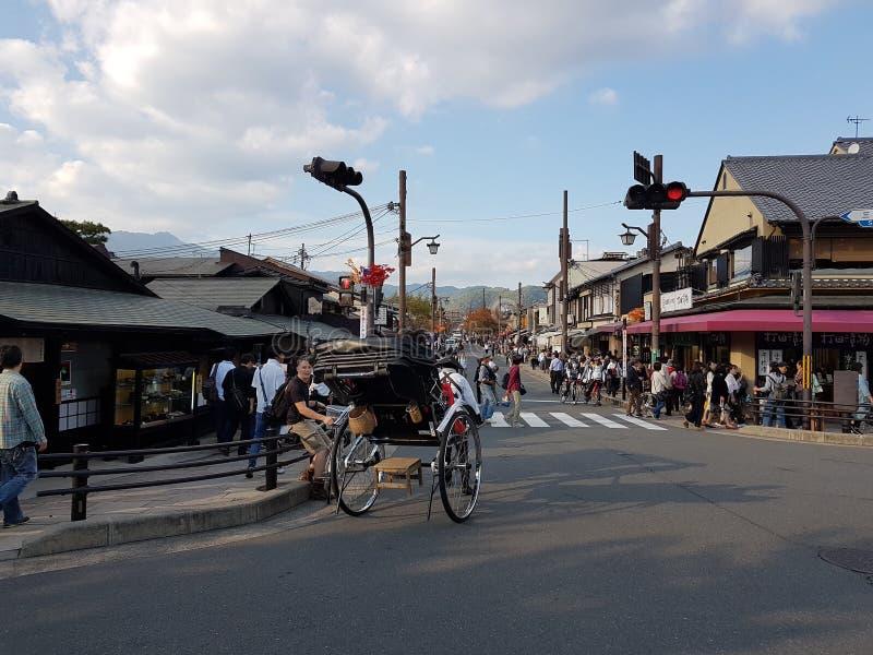 De cultuur van Kyoto, Japan stock foto