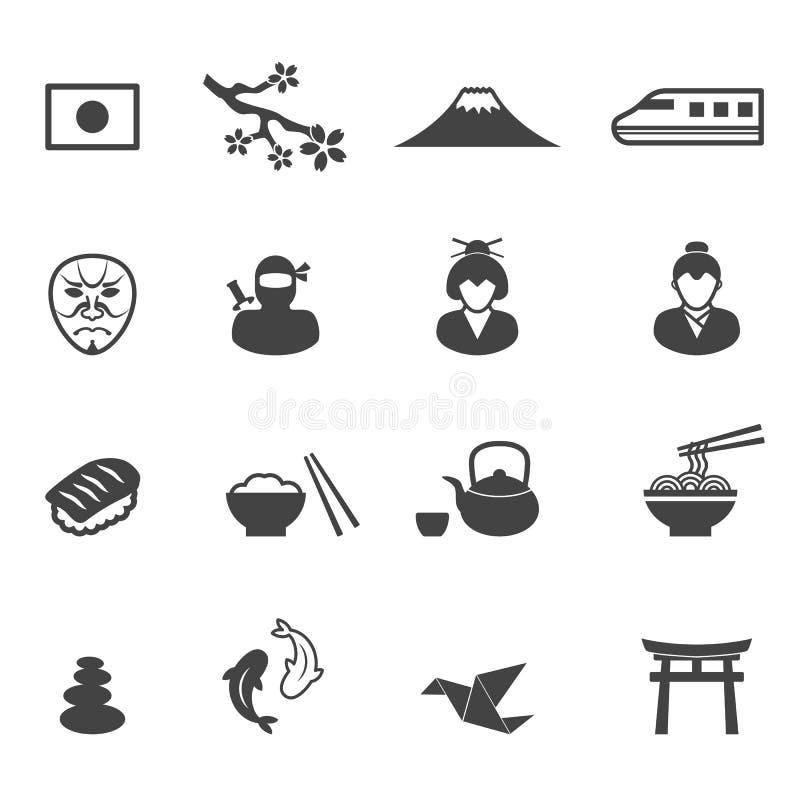 De cultuurpictogrammen van Japan vector illustratie