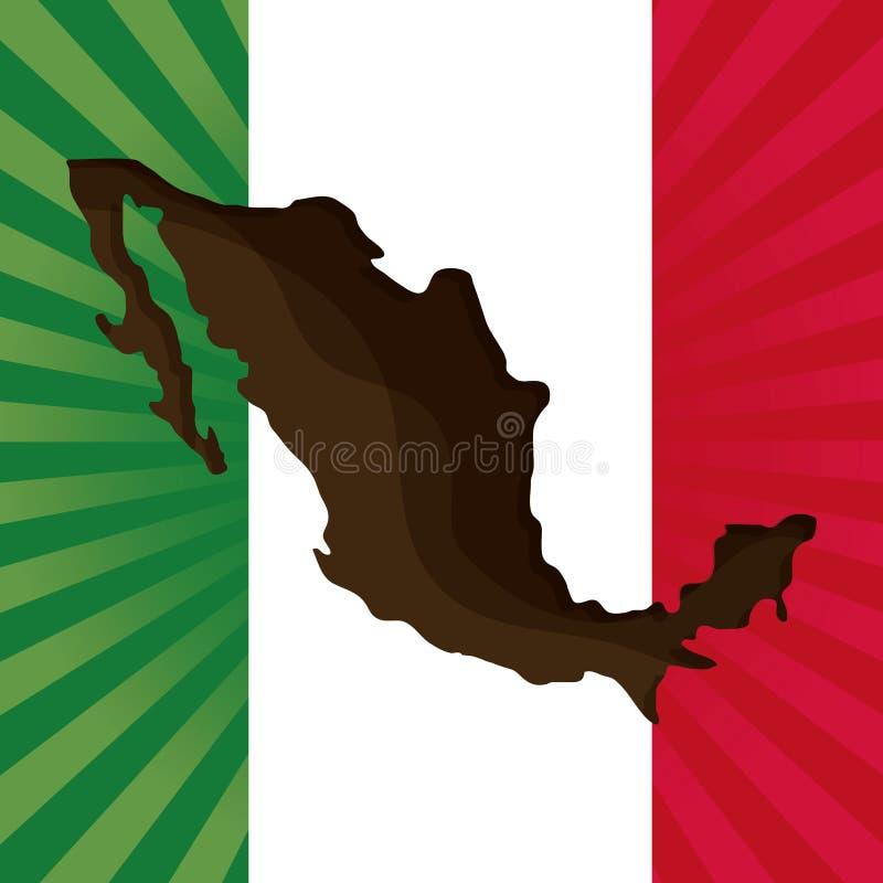 De cultuurpictogrammen van Mexico in vlakke ontwerpstijl, vectorillustratie royalty-vrije illustratie