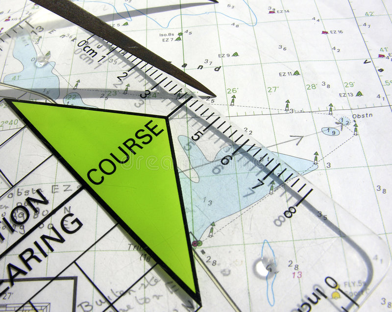 De cursus van de navigatie royalty-vrije stock afbeeldingen