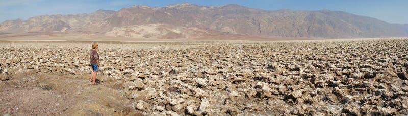 De Cursus van het de Duivelsgolf van de doodsvallei - Panorama stock foto