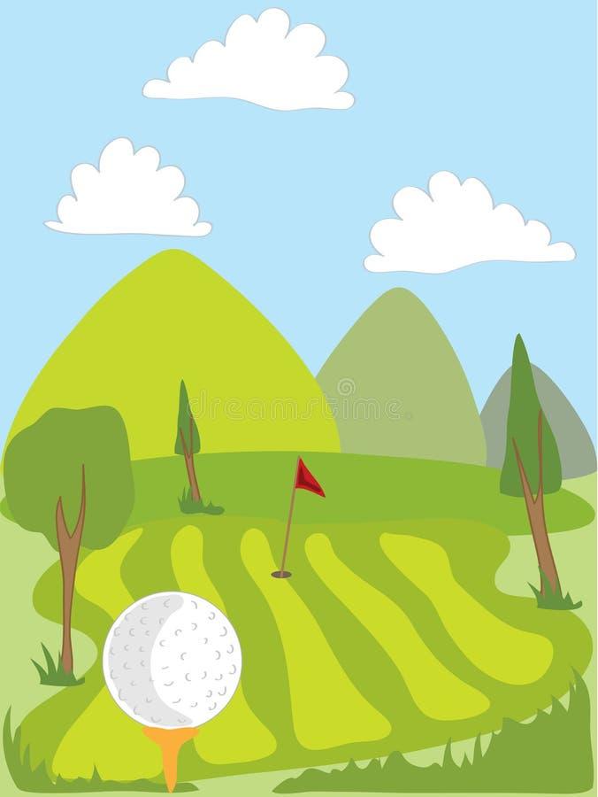 De cursus van het golf royalty-vrije illustratie