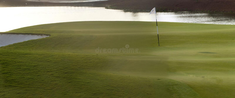 De Cursus van het golf in Doubai, Deel 1 stock foto
