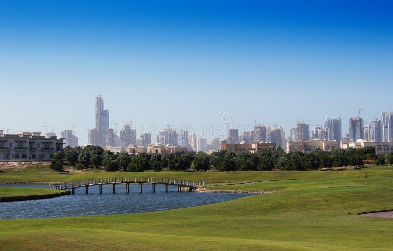 De cursus van het golf en Horizon royalty-vrije stock foto