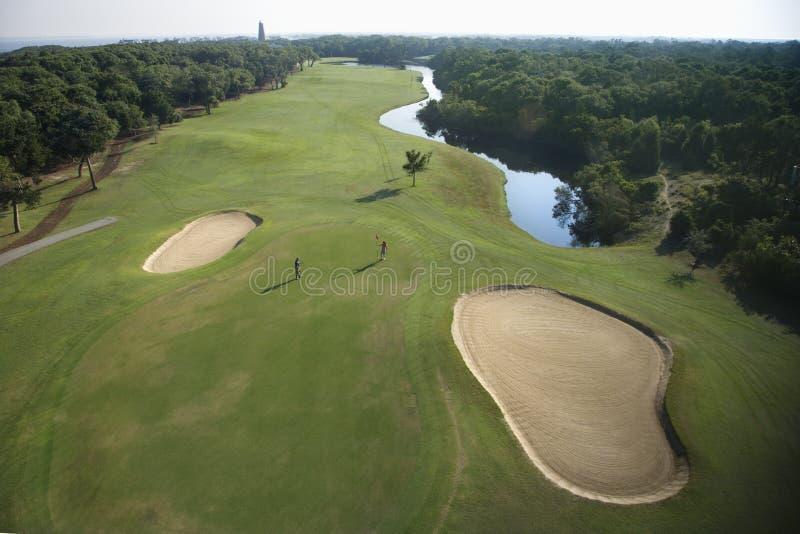 De cursusantenne van het golf. royalty-vrije stock afbeeldingen