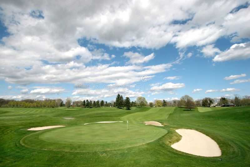 De cursuslandschap van het golf royalty-vrije stock afbeelding