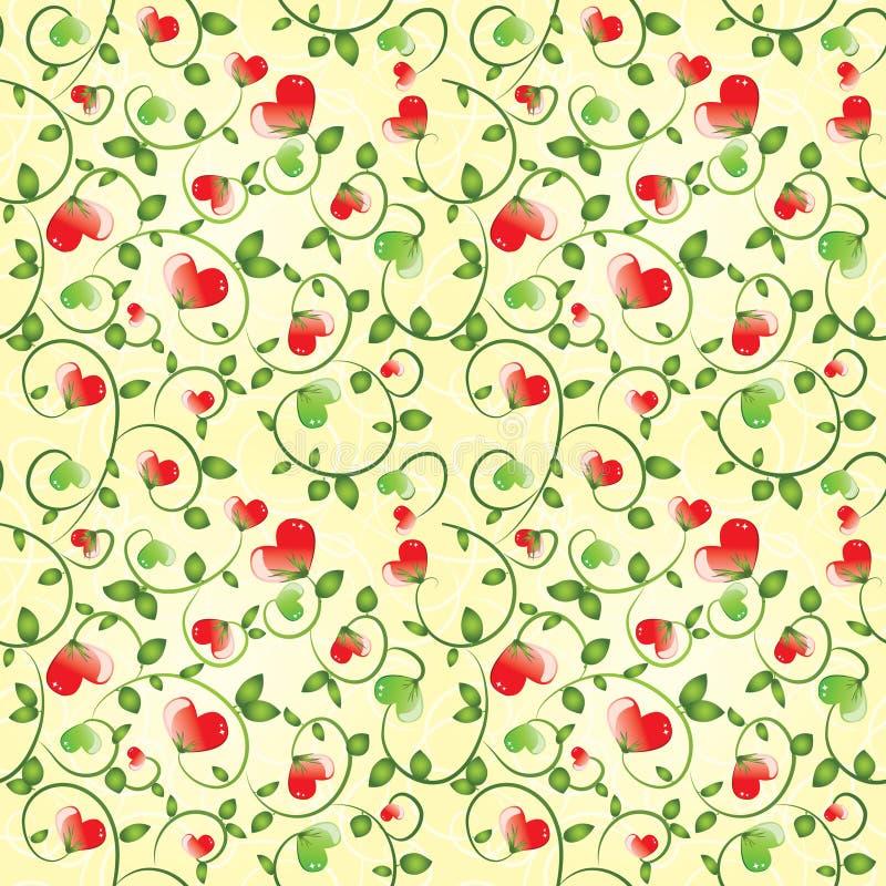 De cyclische achtergrond van de Valentijnskaart vector illustratie