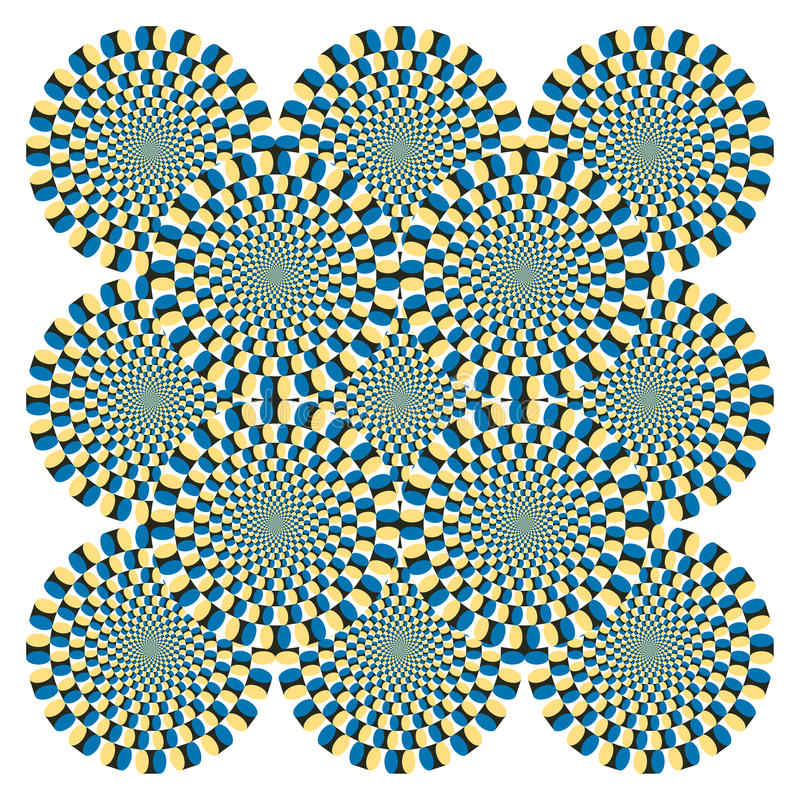De Cyclus van de Rotatie van de optische illusie (Vector) vector illustratie