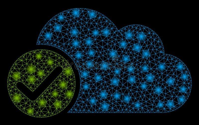 De 2D Geldige Wolk van het gloednetwerk met Gloedvlekken stock illustratie